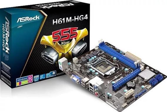 Placa Mãe Asrock H61m-hg4 Socket 1155 P/ Core I3 / I5 / I7