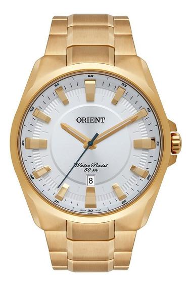 Relógio Orient Masculino Mgss1174 S1kx Dourado Em Aço