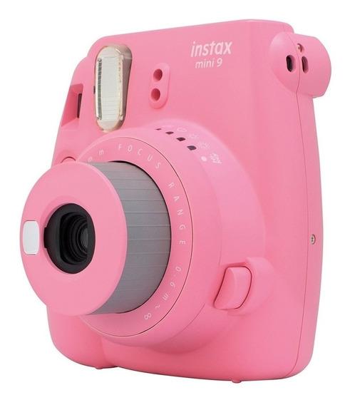 Câmera Fujifilm Instax Mini 9 Rosa Flamingo+ Carregador Sony
