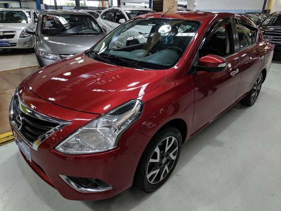 Nissan Versa1.6 Sl Vermelho 2017 (completo + Banco De Couro)