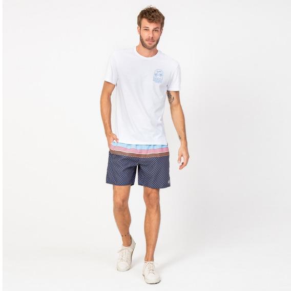 Camisa Casual Masculina T-shirt Praia Branca Vonpiper