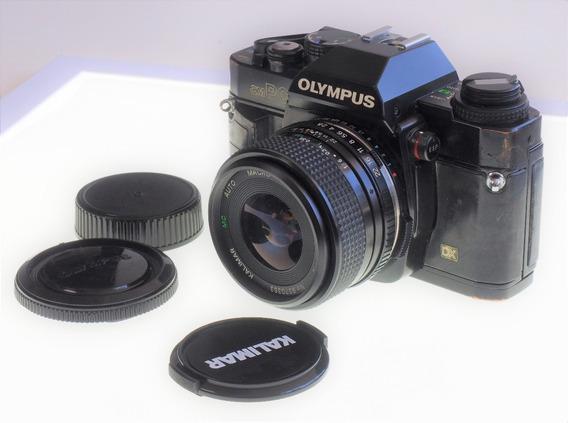 R$250 Maquina Analógica Olympus Om Pc / Om40 + Lente Kalimar