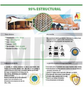 Malla Sombra Arquitectonica Importada 95% Pregunta X Envio