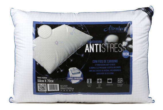 Travesseiro Antistress Tech Altenburg Branco