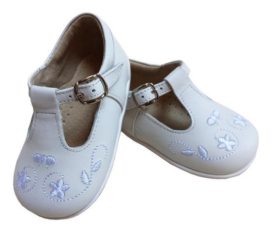 Zapato Bebe Nena 100% Cuero Bautismo/fiesta Varios Colores