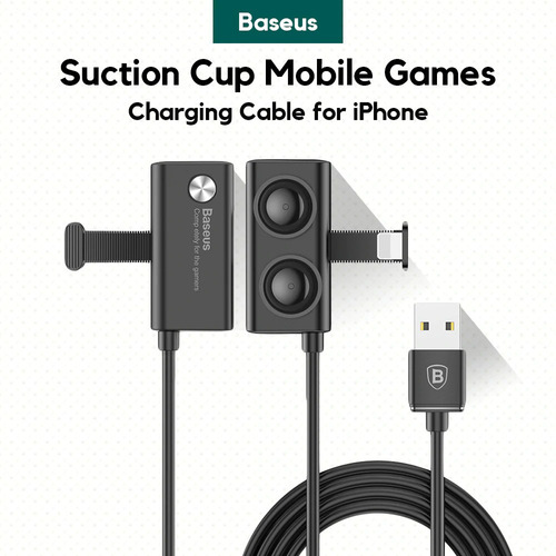 Imagen 1 de 6 de Baseus Cable Gamer Usb Apple Lightning Succion 2 Metros 1.5a