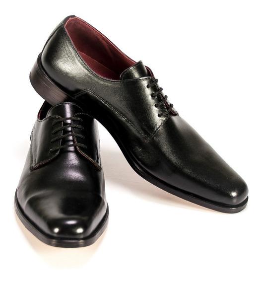 Zapato Cuero Hombre Vestir Negro Eventos Hogh Talles 35/45