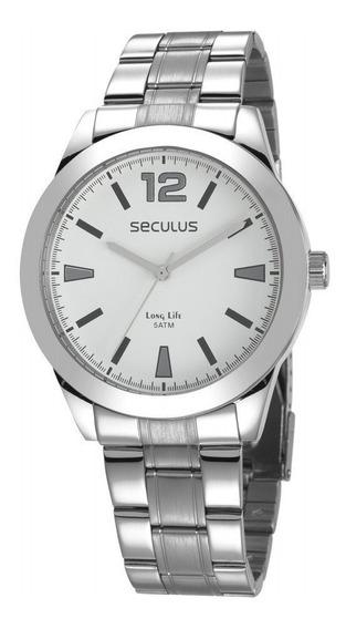 Relógio Seculus Prateado Masculino Long Life 28981g0svna2