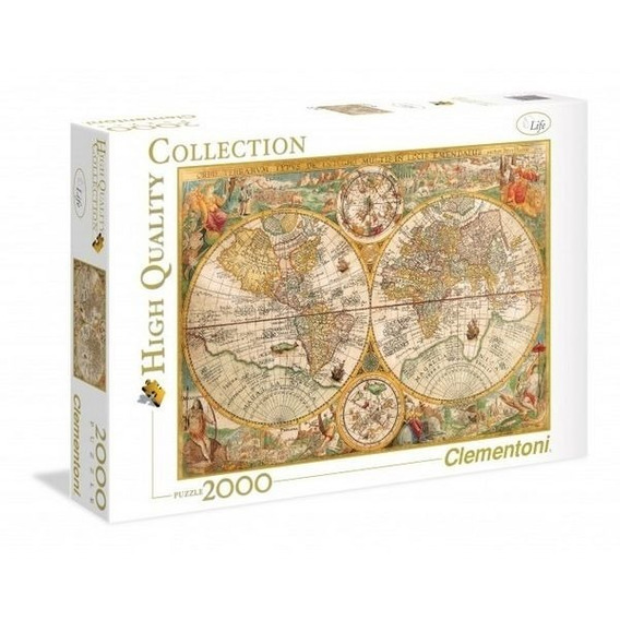 Rompecabeza Puzzle Mapa Antiguo X 2000 Piezas Clementoni
