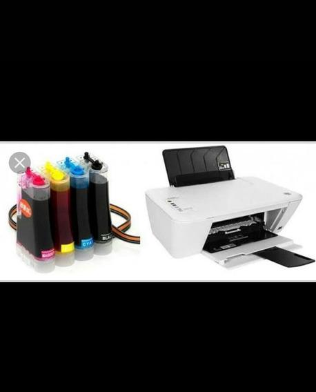 Impressora Hp Com Todos Os Utensílios,inbulk, Tintas...