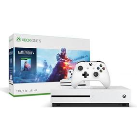 Console Microsoft Xbox One S 1tb Game Battlefield V - Branco