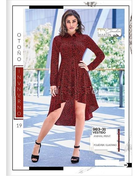 Vestido Cklass 983-31 Animal Print Otoño Invierno 2019 Nuevo