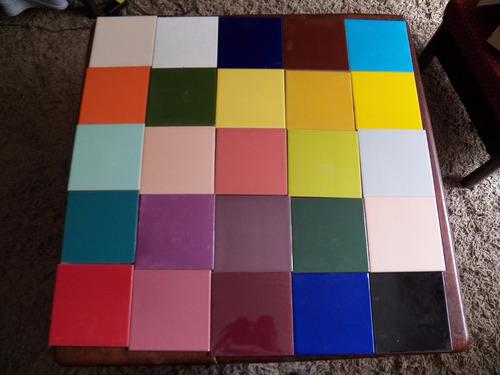 Azulejos Colores 15 X 15 Espesor 4 Mm Cada Uno