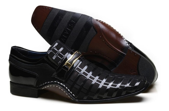 Sapato Social Masculino Em Couro Calvest