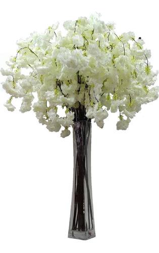 Galho Flor De Cerejeira  Artificial 1,40m Pendentes Planta