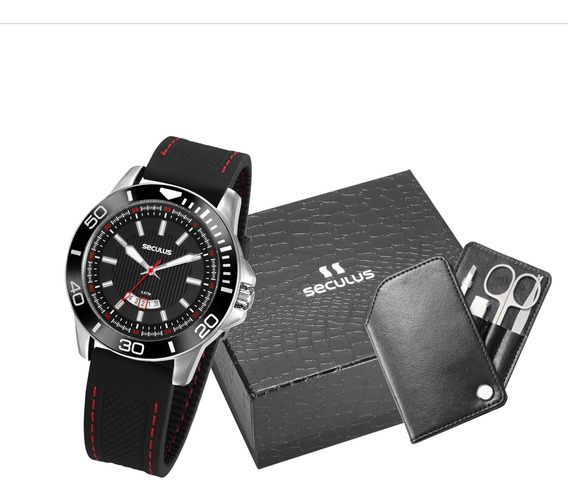 Relógio Masculino Com Kit Unha Preto 20791g0svnu1k1 - Nfe
