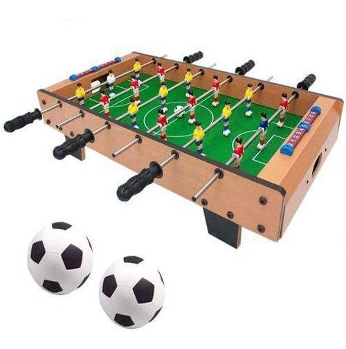 Jogo Pebolim Totó Futebol De Mesa 15x37x72cm Bolas E Placar