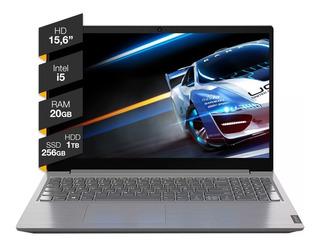Notebook Lenovo V15 Intel I5 Ssd 256gb Hdd 1tb Ram 20gb W10