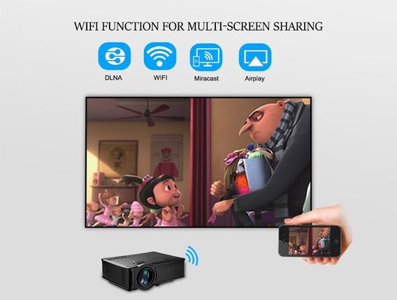 Projetor 1500 Lúmens,wi Fi,tela Mult Airplay,pronta Entre