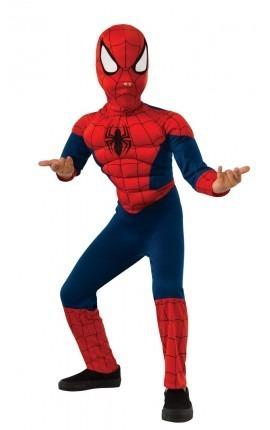 Disfraz Spiderman Marvel Con Musculos Talle 1 5/6 Años