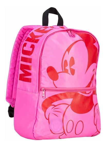 Mooving Escolar Mochila Mickey Mouse Fucsia Original