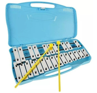 Metalofono 25 Notas / Cromático Metálico/baquetas/stikers
