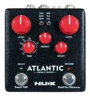 Pedal Nux Atlantic Reverb + Delay Tap Tempo Guitarra O Bajo