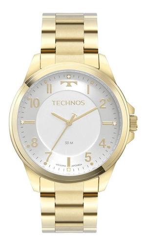 Relógio Feminino Technos Dourado Analógico Original Nfe