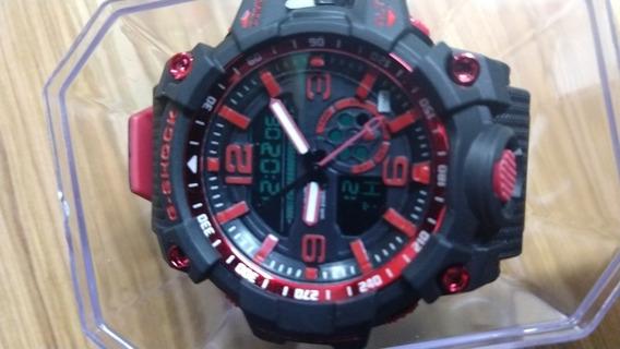 Relógio G-shock Militar Preto Vermelho