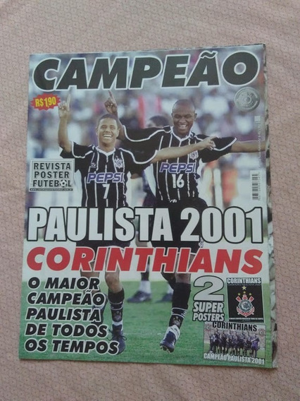 Revista Poster Corinthians Campeão Paulista 2001