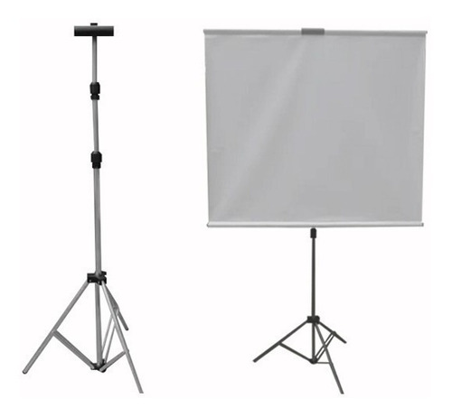 Imagem 1 de 4 de 01 Tripé,pedestal, Suporte Para Telas De Projeção 2,5m Cp