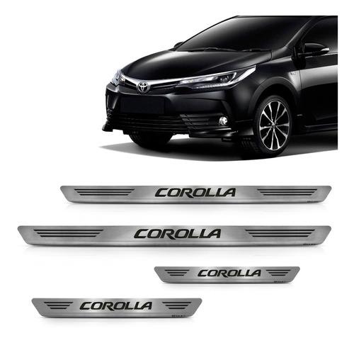 Soleira Aço Inox Escovado Corolla 2014 2015 2016 2017 2018