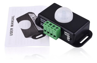 Sensor De Presença E Movimento 12v 24v 8a 120° Temporizado.