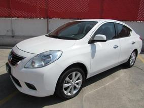Nissan Versa 2014 Exclusiv Aut Blanco Con Garantia Y Credito