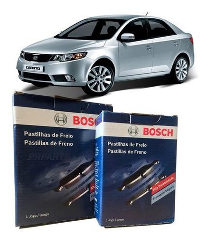 Imagem 1 de 4 de Kit Pastilhas Original Bosch Dianteira + Traseira Kia Cerato 1.6 2009 2010 2011 2012