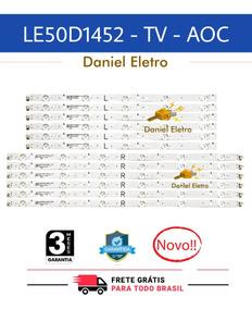 Barra De Led Tv Aoc Le50d1452 Kit Com 12 Barras De Led Novas