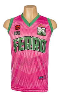 Camiseta Básquet Ferro Carril Oeste Rosa Gpc 2019/2020