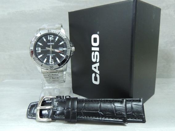 Relógio Masculino Casio Mtp-vd01d-1bvudf + Pulseira Extra Nf