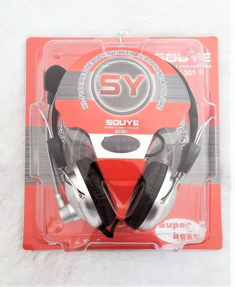 Hi-fi Stereo Headphone With Microphone & Volume Sy-301