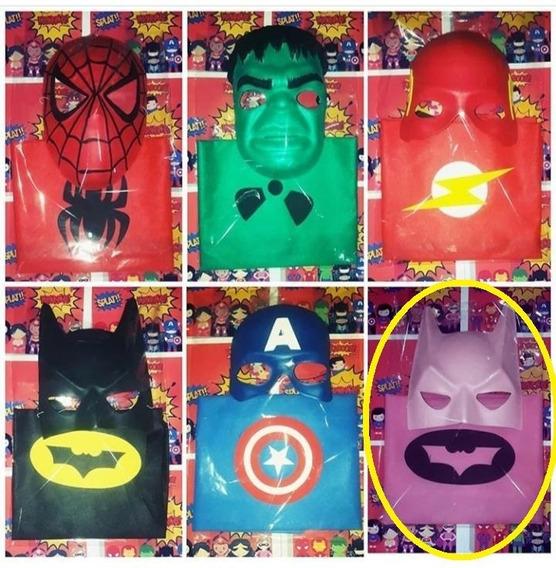 Set Disfraz Batichica Rosa Capa + Mascara Superheroe