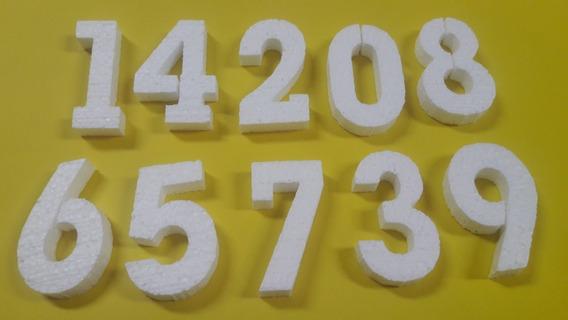 Numeros Telgopor Alta Densidad Para Gibrear 6 Cm X 100 U.