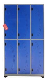 Locker Metálico De 6 Compartimientos | Horizontal