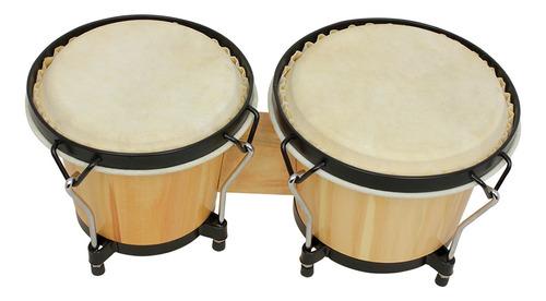 Bongo Drums - Juego De Tambores De Madera Para Instrumentos