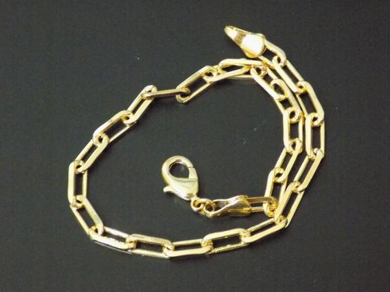 Pulseira Cartier Masculina Banhada Em 10 Camadas De Ouro18k