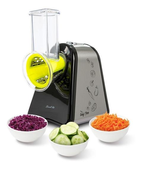 Rallador Electrico Smart Tek Easy Chop Rebanador 4 Accesorios Queso Vegetales Facil De Usar