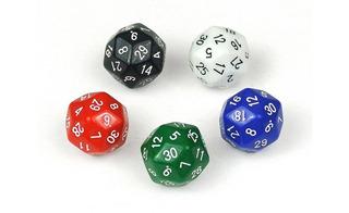 Juego Dados Poliédrico 30 Caras X 6 Und Dado Rol Casino Mate