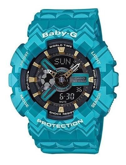 Relógio Baby-g Ba-110tp-2a (verde Agua)