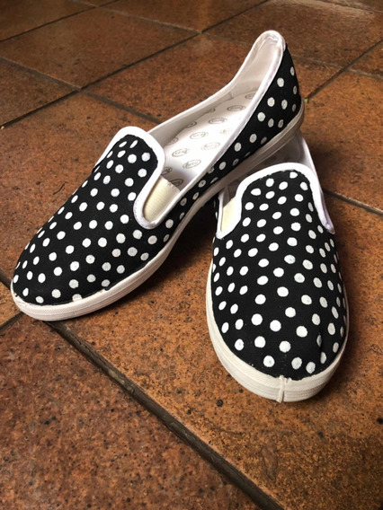 Panchitas/zapatillas Pintadas A Mano