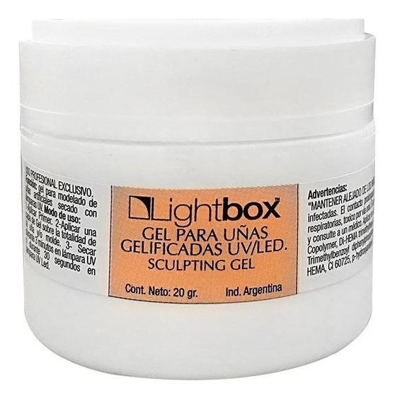 Gel Construcción Lightbox Uñas Gelificadas X 20g Clear