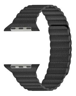 Pulseira Couro Magnético Para Apple Watch 38 E 40mm